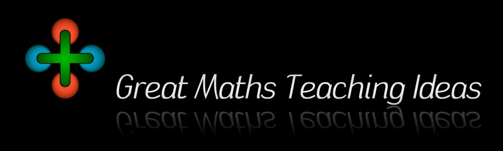 Great Maths Teaching Ideas  is the blog of William Emeny, a secondary school maths teacher working at Wyvern College in Hampshire, England.