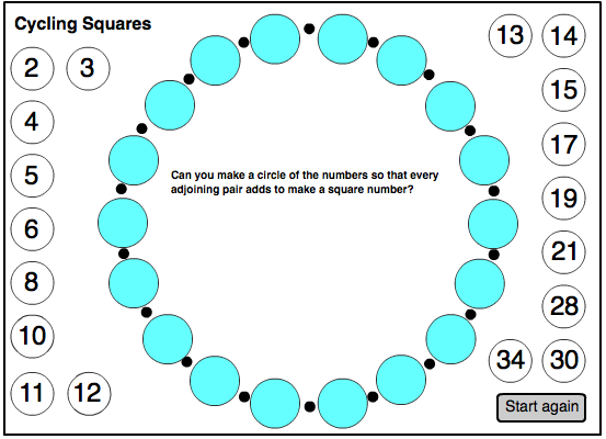 NRich activity about square numbers Cycling Squares Great Maths – Square Numbers Worksheet